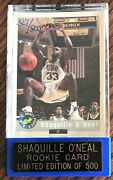 Shaquille O'neal 1992 Classic Draft Pick 327/500 Signed Rookie Card Hof Shaq