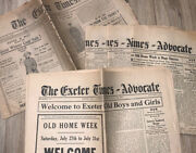Exeter Times Vintage Lot Of Newspapers 1915 And 1943 And 1935 - 5 In Lot