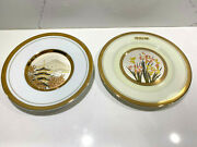 The Art Of Chokin 2 Engraved Plates 24k Gold Trim Made In Japan 6