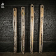 Set Of Four 18th C Oak Stable Block Posts