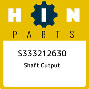 S333212630 Hino Shaft Output S333212630 New Genuine Oem Part