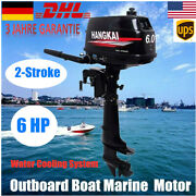 6 Hp 2-stroke Outboard Motor Boat Marine Engine Water Cooling System Motor