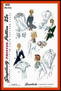 Collars Dickey Cuffs Accessories Vintage 1950and039s Simplicity 3078 Sewing Pattern