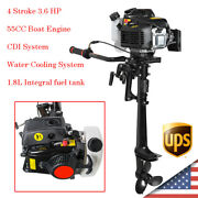4 Stroke 3.6 Hp Outboard Motor 55cc Boat Engine Air Cooling Manual 1-cylinder