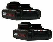 Porter Cable Pcc681l 2 Pack 20 Volt Max Lithium-ion 20v 1.3 Amp Hour Battery