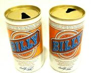 Vintage Pair Of Empty Billy Beer Cans