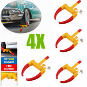 4 Pack Anti Theft Wheel Lock Clamp Boot Tire Claw Trailer Auto Car Truck Towing