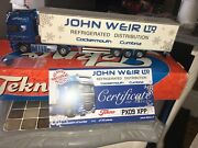 953 Tekno John Weir Daf Xf With Fridge Trailer Mint Boxed + Certificate
