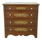 32056echitchcock Stencil Decorated 4 Drawer Early American Style Chest