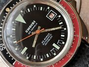 Vintage Choisi 20 Atm Diver W/coke Bezelbeautifully Cut All Ss Casetropic Band