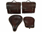 Royal Enfield Front And Rear Seat With Luggage Bags For Classic 350cc 500cc