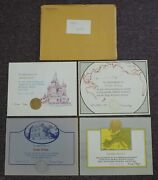 Lot Of 4 1980's Appreciation Certificates All Signed By President Ronald Reagan