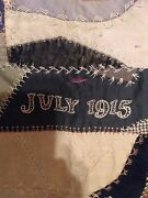 Vintage 1915 Hand Made Crazy Quilt ...quilt Top  Thin Quilt