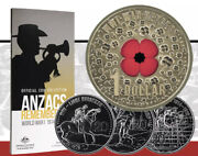 💰2015 Anzac Remembered 20c Coin Collection With 1 War Heroes Red Poppy-15 Coin