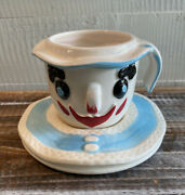 Vintage Mid Century 1960 Lego Japan Clown Cup And Saucer Rare