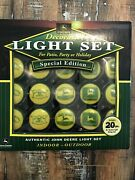John Deere Tractor 1007- Patio, Party Holiday Light Set 20 Pc Special Edition