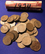 1924 Roll Of Lincoln Wheat Pennies