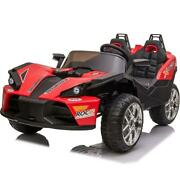 Slingshot 12v Kids Car Red 2.4ghz Rc With Remote, Usb/mp3 Music, Ride On Toy