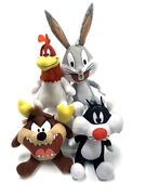 Looney Tunes 6-8 Inches Taz Bugs Bunny Foghorn Leghorn And Sylvester Plush