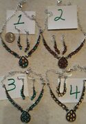 Navajo Chas. Johnson Squash Blossom Necklace Earrings Various Gemstones You Pick