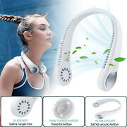 Hand Free Portable Personal Neck Fan Necklace Mini Air Conditioner Cooling Fan
