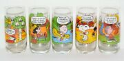 Rare Vintage 1965 1968 1971 Lot Of 5 Camp Snoopy Collection Mcdonalds Glasses