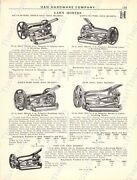 1920s Antique Hardware Ad Lawn Mowers Various Sizes/number Of Blades