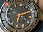 Vintage Silver Extra 3000 Feet Diver W/pristine Dialpatinamassive All Ss Case