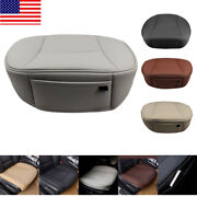 Usa Car Pu Leather Front Seat Cover 3d Full Surround Protector Chair Cushion Pad