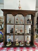 Norman Rockwell .from The Saturday Evening Post. Display Cab. With 15 Figurines.