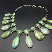 Lovely Federico Jimenez Sterling Silver Carico Lake Turquoise Cleopatra Necklace