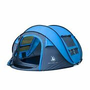 Easy Pop Up Tents, Instant Automatic 4 Person Family Camping Tents