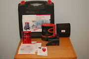 Leica Lino P5 5 Beam Point Red Dot Laser Self Leveling W/ Target Base And Case