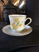 Japanese Berkeley House Fine China Coffee /tea Cup And Saucer Meadow Song 5452
