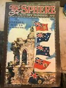 The Sphere Vintage Rare January 18 1919 Victory Number 2 Overseas Forces Issue