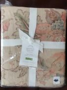 Pottery Barn Grace Floral King / Cal King Duvet Cover Only Nwt Sold Out