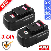 18v 3.6ah Upgrade For Porter Cable Pc18b Battery Ni-mh Pcc489n Pc188 Pcxmvc Pack