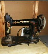Vintage Antique 1900s Queen Cast Iron Industrial Sewing Machine Head Only