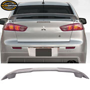 Fits 08-17 Mitsubishi Lancer Oe Trunk Spoiler Painted A39 Graphite Grey Pearl