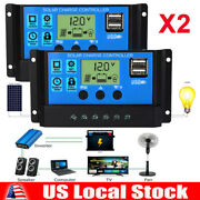 2x Mppt Solar Panel Regulator Charge Controller Auto Focus Tracking 30-100a 24v