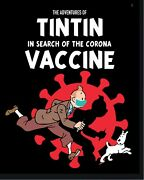 New The Adventures Of Tintin Tin Tin In Search Of The Corona Vaccine Poster