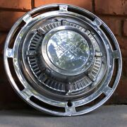 Vintage 1959 1960 Impala 14 Stainless Steel Wheel Cover / Racing Double Flag