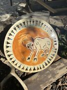 Native American Drum 12andrdquo Painted Hand Drum Indian Cherokee Earth Pigment Paints