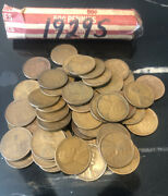 1929s Roll Of Lincoln Wheat Pennies