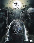 The Walking Dead Cast X12 Hand-signed Andrew Lincoln 11x14 Photo Jsa Coa