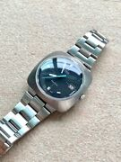 Vintage Omega Geneve Automatic Square Day Black Dial Mens Classic Watch
