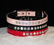 Cat Safety Collar Genuine Crystals Jewel Snakeskin Bling Super Cute Kitty Bling