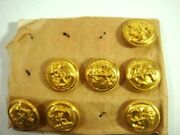 Vintage Buttons Anchor Navy Military Round Shinny Brass Metal Buttons