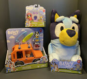 Bluey Heeler 4wd Family Vehicle With Bandit And 2 Surfboards Grannies And Plush