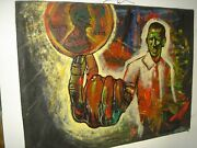 Obama African American Political Art 2008 Referenced Original Oil Painting